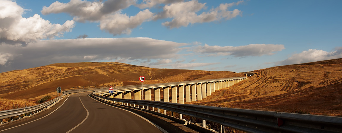 Viaduct in the Sicilian countryside